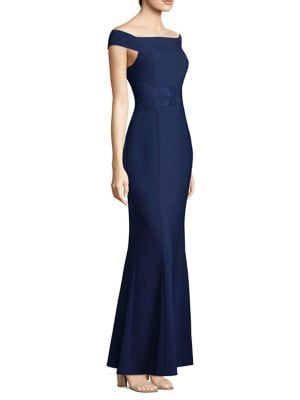 Matte Crepe Mermaid Gown by Laundry by Shelli Segal