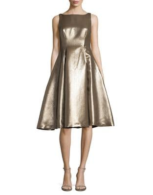 Metallic Fit-&-Flare Dress by Adrianna Papell