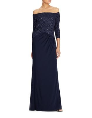 Jersey Off-the-Shoulder Gown by Lauren Ralph Lauren