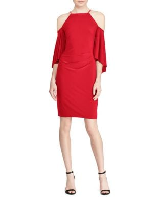 Bell-Sleeve Cold-Shoulder Jersey Dress by Lauren Ralph Lauren