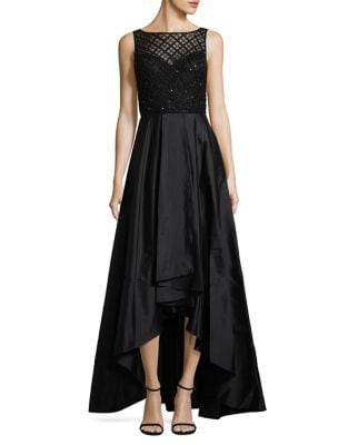 Pleated Hi-Lo Gown by Adrianna Papell