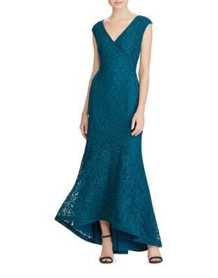 Floral Lace Gown by Lauren Ralph Lauren