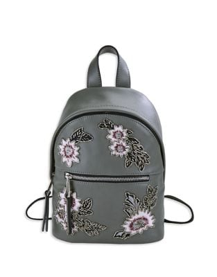 Beaded Floral Mini Backpack...