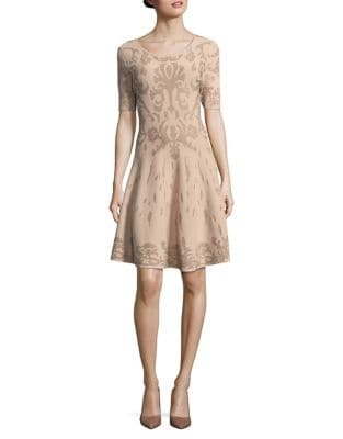 Blush Short Sleeve Dress by Ivanka Trump