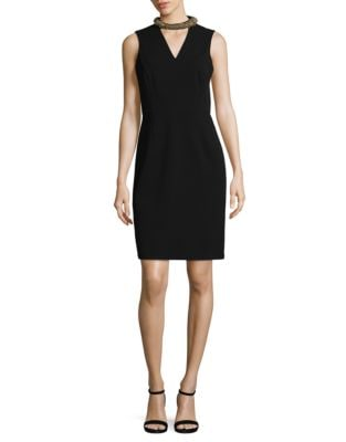 Choker Sheath Dress by Ivanka Trump