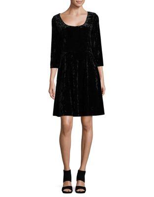 Textured Quarter-Sleeve Dress by Ivanka Trump