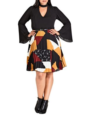 Plus Patchwork Dress by City Chic