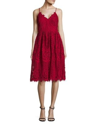 Lace Fit-&-Flare Dress by Nicole Miller New York