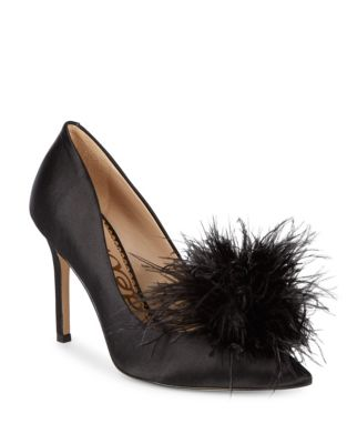Haide Satin Feather Pumps by Sam Edelman