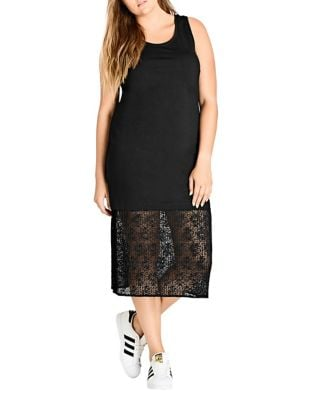 Plus Lace Midi Dress by City Chic