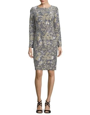 Velvet Sheath Dress by Badgley Mischka Platinum