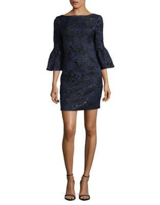 Bell-Sleeve Sheath Dress by Aidan Aidan Mattox