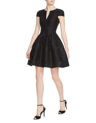 Notch Fit-&-Flared Dress by Halston Heritage