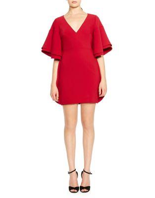V-Neck Mini Dress by Halston Heritage