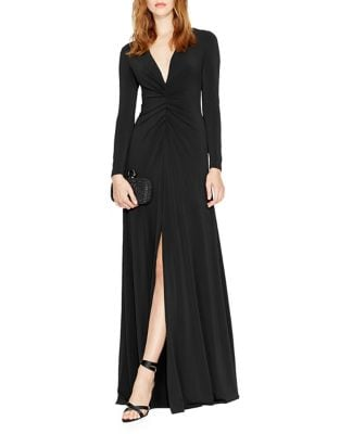 Ruched Front Column Gown by Halston Heritage