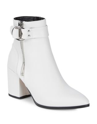 Johannah Leather Booties by Steven by Steve Madden