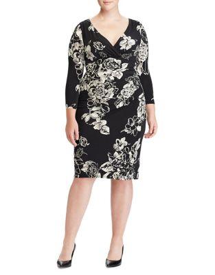 Plus Floral Jersey Sheath Dress by Lauren Ralph Lauren