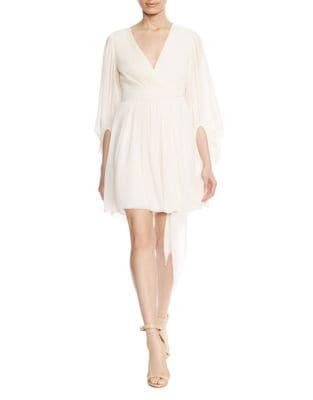 Bishop Sleeve Mini Dress by Halston Heritage