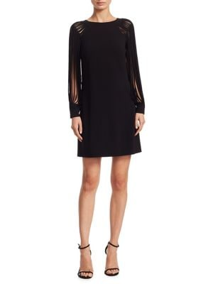 Cut-Out Mini Dress by Halston Heritage
