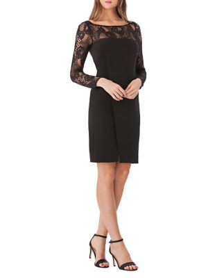 Floral Lace Sheath Dress by JS Collections