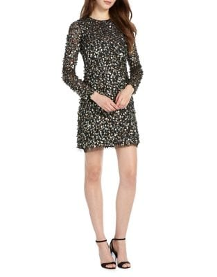 Embellished Shift Dress by ML Monique Lhuillier