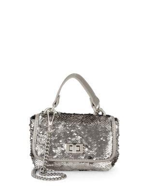 Sequined Crossbody Bag 500087717065