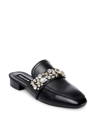 Slina Embellished Leather Mules by Design Lab Lord & Taylor