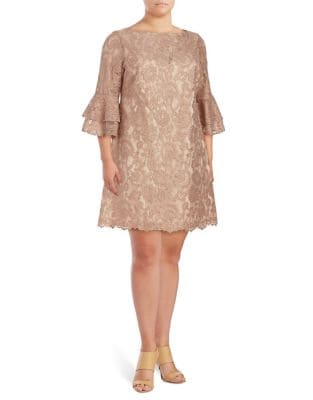 Plus Lace Bell Sleeve Dress by Vince Camuto