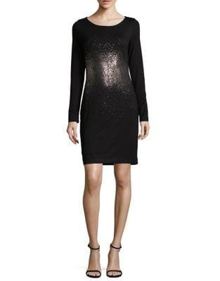 Metallic Ombre Sheath Dress 500087717544
