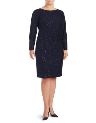 Plus Sequin Knee-Length Dress by Vince Camuto