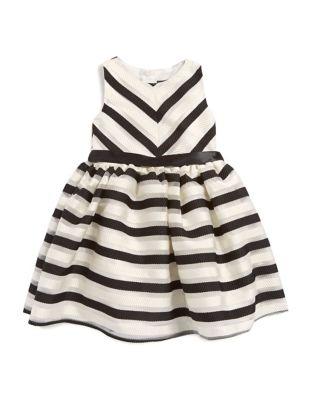 Little Girls Striped Party Dress