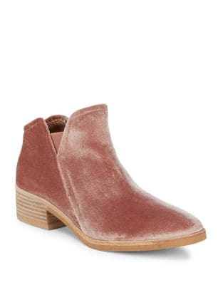 Tay Velvet Ankle Booties by DV by Dolce Vita