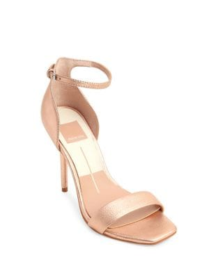 Halo Leather Ankle-Strap Sandals by Dolce Vita