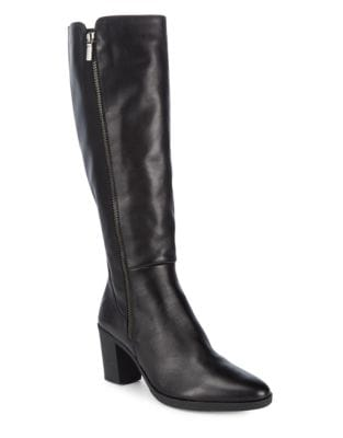 Ponyup Mid-Calf Leather Boots by The Flexx