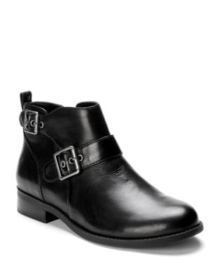 Logan Leather Booties by Vionic