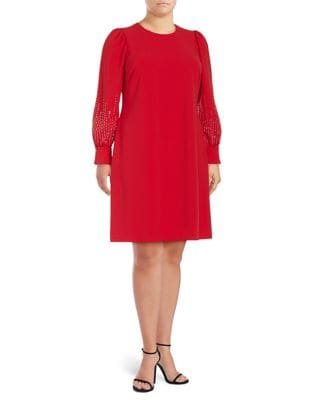 Plus Balloon Sleeve Dress by Calvin Klein
