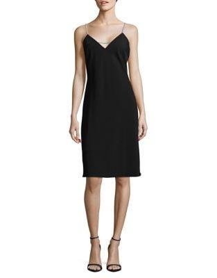 V-Neck Knee-Length Dress by Karl Lagerfeld Paris