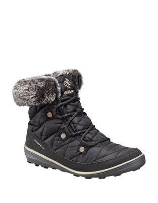 Heav Faux Fur-Collar Waterproof Boots 500087720992