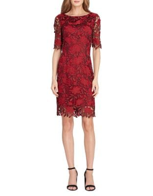 Petite Floral Lace Sheath Dress by Tahari Arthur S. Levine