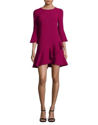 Ruffled Bell-Sleeve A-Line Dress by Eliza J