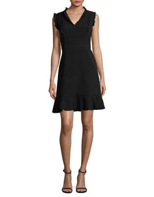 Flounce Little Black Dress by Karl Lagerfeld Paris