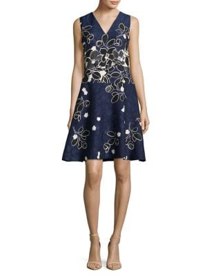 Floral Fit-&-Flare Dress by Karl Lagerfeld Paris