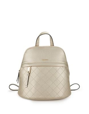 Pebbled Leather Backpack...