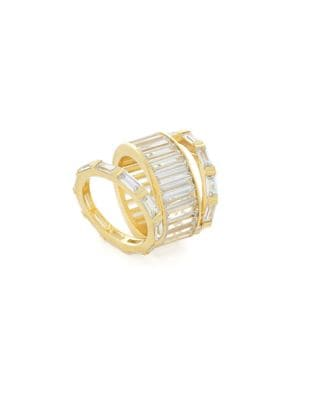 Bold Crystal Stacked Ring 500087723048