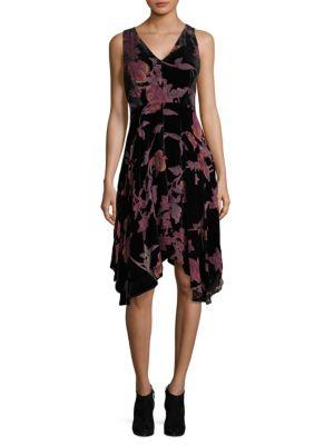 Floral V-Neck Fit-&-Flare Dress by Ivanka Trump