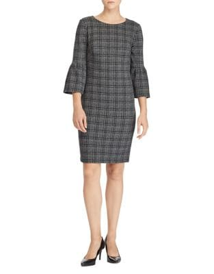 Plaid Jacquard-Knit Dress by Lauren Ralph Lauren