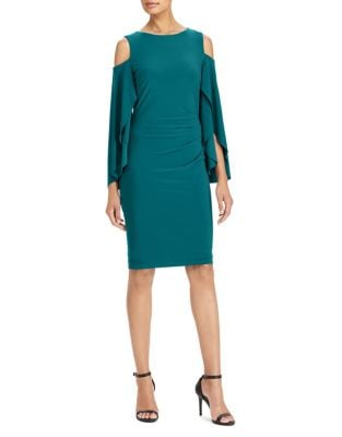 Jersey Cold-Shoulder Dress by Lauren Ralph Lauren
