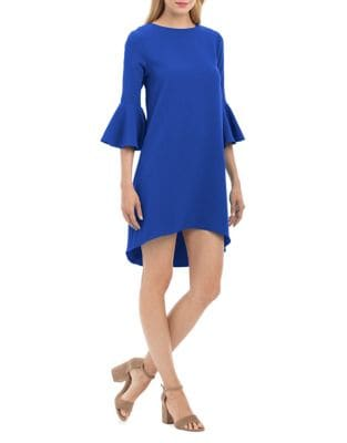 Bell Sleeve Hi-Lo Dress by Nicole Miller New York