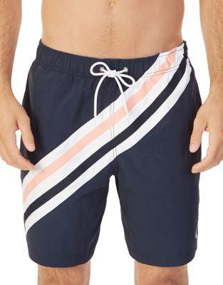Striped Swim Trunks @...