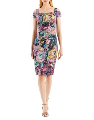 Floral Sheath Dress by Nicole Miller New York
